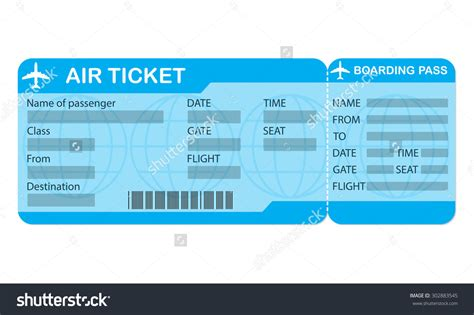 flight ticket template gift 29 images of blank plane ticket template for gift