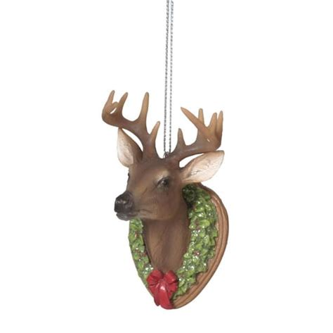 deer trophy mount christmas ornament