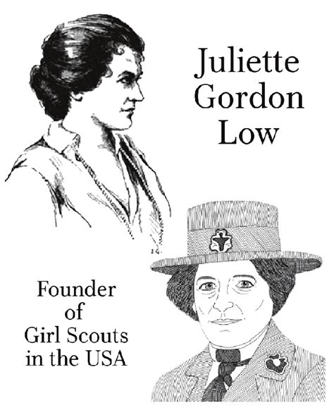 juliette gordon low coloring pages coloring pages