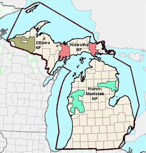 michigan state forest map usda forest service sopa michigan