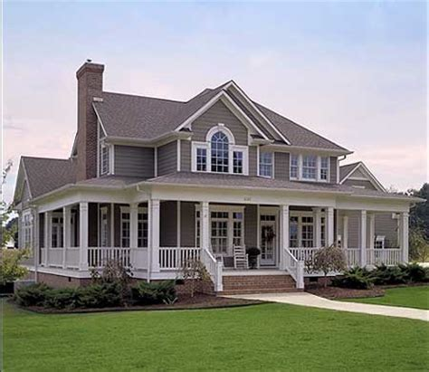 wrap around porch home plans farm house favething