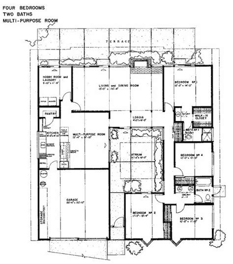 Eichler Atrium Floor Plan by 61 Best Images About Courtyard Houses Plans On