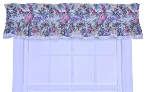 fruit kitchen curtains ellis curtain harvest fruit kitchen rod pocket curtain