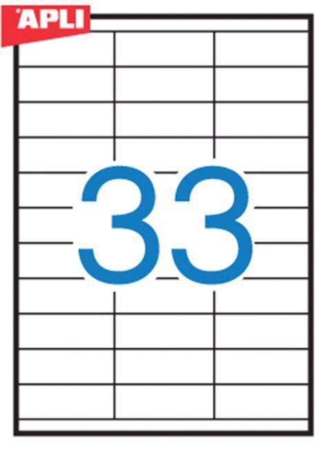 Apli Label White Paper 64 6 X 33 8mm 2400 Unit 01263 universal labels apli 70x25 4mm rectangle white 100 sheets pbs connect polska artyku蛯y