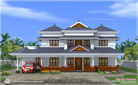 traditional home plans kerala traditional home in 3450 sq ft home kerala plans