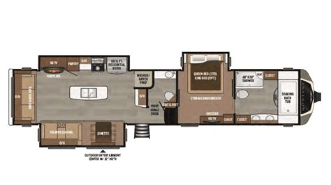 montana 5th wheel floor plans 2017 keystone montana 3921fb floor plan 5th wheel