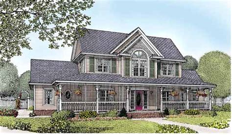 two story country house plans country style house plans 2571 square foot home 2