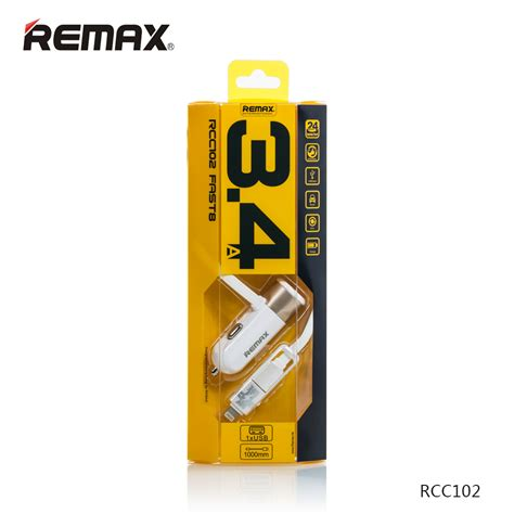 Remax Fast8 34a Output Car Charger With 1m Micro Usblightning Cable remax rcc102 fast 8 car charger for s end 6 2 2017 1 53 pm