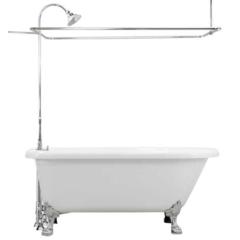 bathtub deals cast iron classic 5 clawfoot tub with shower