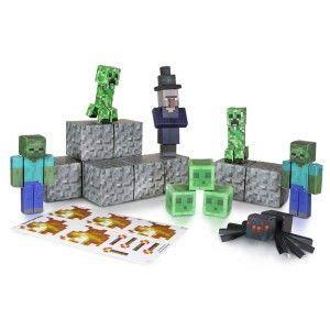 Minecraft Papercraft Toys R Us - minecraft papercraft overworld hostile mobs from jazwares