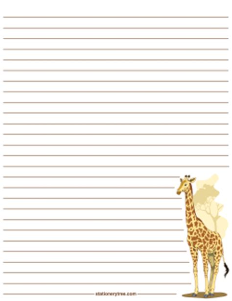 printable animal letterhead free animal stationery and writing paper