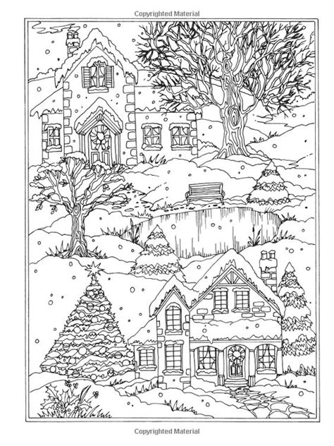coloring pages winter wonderland amazon com creative haven winter wonderland coloring book