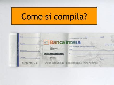 banca trattaria assegno gli strumenti di pagamento