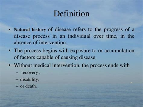 historic meaning natural history of disease
