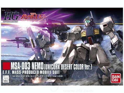 Bandai Hg 1 144 Hguc Nemo Unicorn Ver 1 144 hguc msa 003 nemo unicorn desert color ver by bandai hobbylink japan