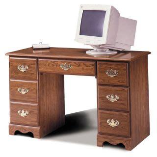 Riverside Meridian Oak 50 Inch Computer Desk With Hutch 50 Inch Computer Desk