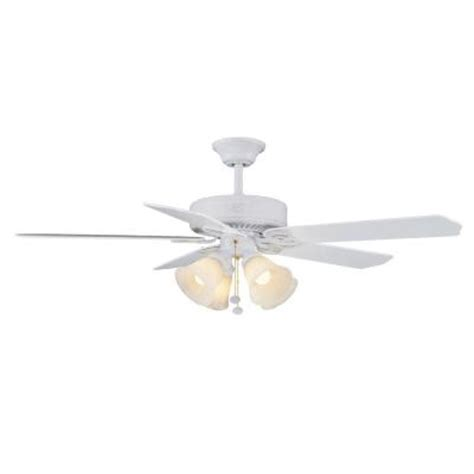 hton bay huntington iii 52 in indoor white ceiling fan