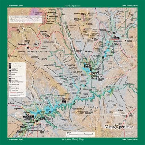 lake powell map lake powell np glen recreation area mobile map utah map the xperience