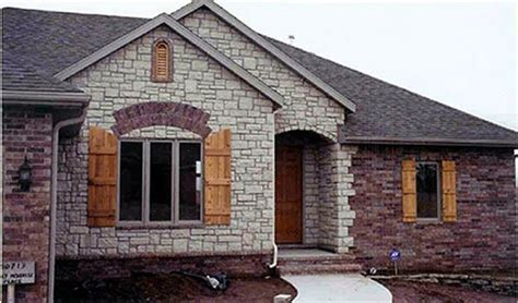 brick and exterior combinations limestone prairie field with brick brick and