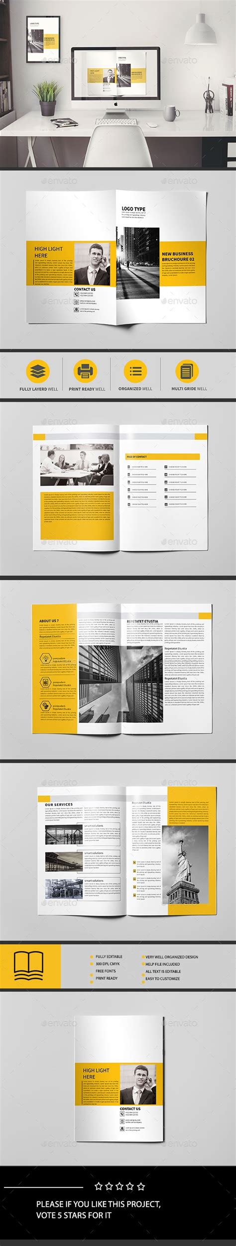 Corporate Brochure Template 8 Page Corporate Brochure Brochure Template And Indesign Templates 8 Page Booklet Template Indesign
