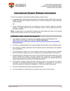 Request Letter Usyd What Is A Release Letter Forms And Templates Fillable Printable Sles For Pdf Word