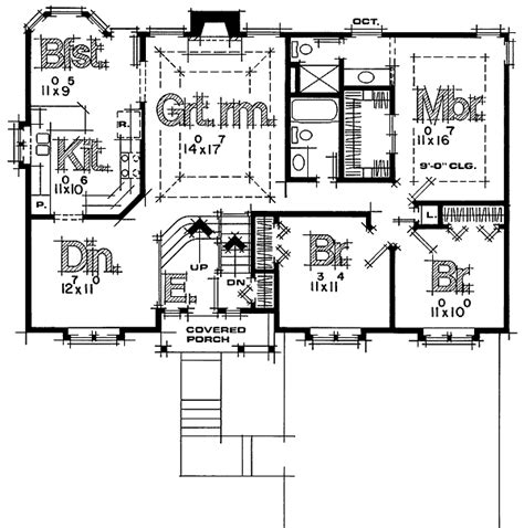 basement entry floor plans up to date split level house plan 41118db 1st floor master suite narrow lot pdf photo