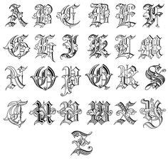 tattoo lettering lowercase fancy script alphabet uppercase and lowercase cool