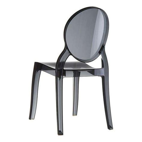chaise plexi noir chaise de style en polycarbonate transparent elizabeth