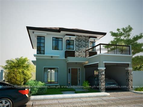 modern zen house design philippines simple small house house design cm builders