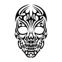 25 cool tribal skull tattoos only tribal