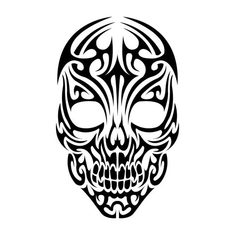 tribal skull clipart best