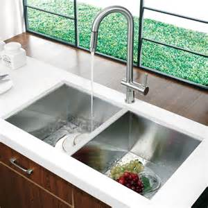 vigo 32 quot x 19 quot equal bowl zero radius 16 undermount kitchen sink reviews wayfair