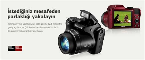 Kamera Samsung Wb110 samsung wb110 dijital foto茵raf makinesi siyah incehesap
