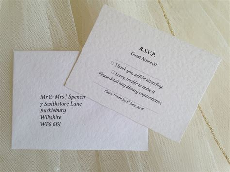 Wedding Invitations Rsvp Card In Envelope by Rsvp Cards And Envelopes Wedding Stationery