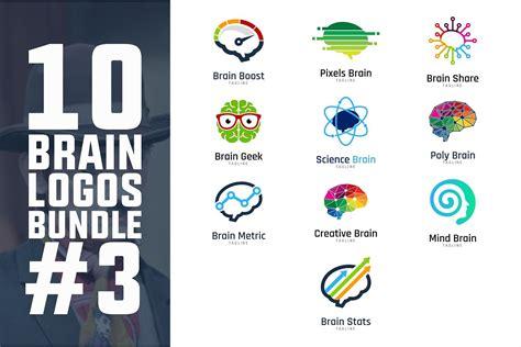 10 brain logo bundle 3 logo templates creative market