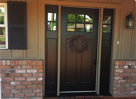 Replacing Mahogany Door With Fiberglass Door With Two Glass Entry Doors With Sidelights
