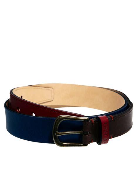 Ted Baker Belt Colour Block asos ted baker color block belt in blue for lyst