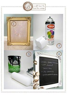 diy chalk paint picture frame framed chalkboard diy craft idea up cycle a frame for