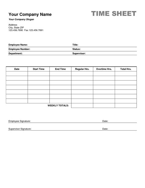 best photos of job time sheet template employee time