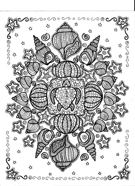 turtle mandala coloring pages instant download turtle shell mandala you be the artist