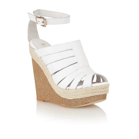 white and gold sandals buy ravel wedge sandals in white gold