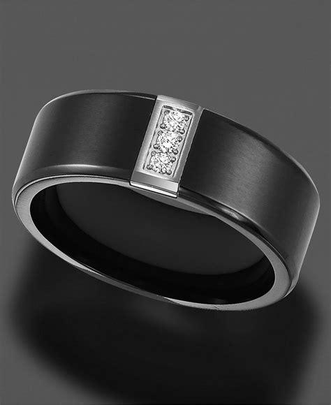 triton s black titanium ring accent wedding