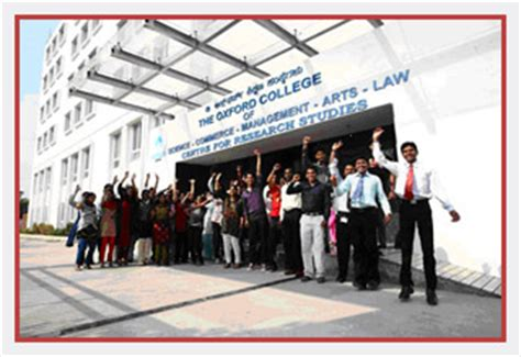 Oxford College Bangalore Mba by Oxford Mba College Bangalore The Oxford Educational
