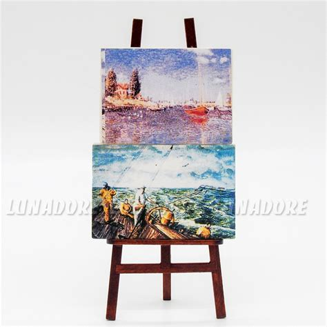 canvas bedroom furniture sets odoria 1 12 miniature easel set 2psc paintings canvas with
