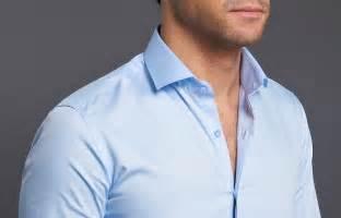 supra slim sky blue shirt hidden buttonhole metal button