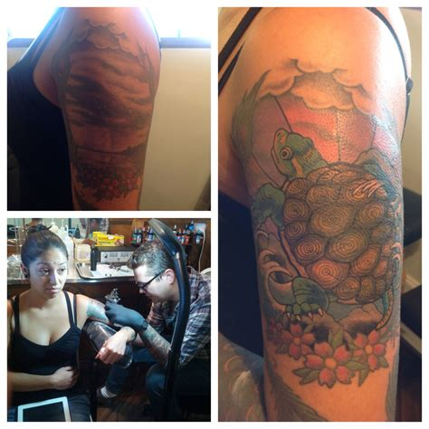 tattoo shops dothan al my turtle cover up by chris lurie at dinosaur