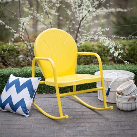 metal patio rocking chairs 1391 best i swings gliders rockers and metal chairs images on