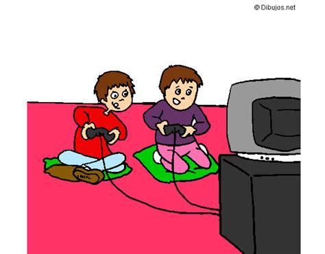 imagenes de niños jugando xbox dibujo de los ni 241 os jugando a la play station 2 pintado