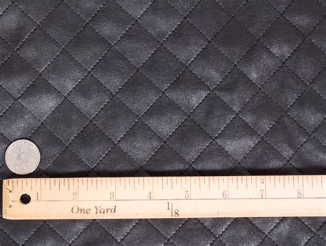 Quilted Leather Material by Mjtrends Black Quilted Faux Leather Fabric