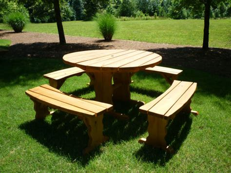 wood picnic table kit stylish wooden picnic tables for vacation inhabit zone